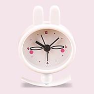 (Mønster tilfeldig) barn gave kanin jente lomme klokke søt kreativ liten bærbar metall maling vekkerklokke