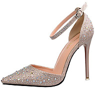 Women's Heels Spring/Summer/Fall Heels Glitter Party & Evening/Casual Stiletto Heel Wedding Black/Silver/Gold