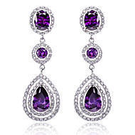 Drop Earring Jewelry 1 pair Fashionable Sterling Silver / Zircon Silver Daily / Casual