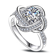 European Style Cubic Zirconia Rings Flowers 925 Sterling Silver Ring Fashion Weddings Jewelry For Women Ring