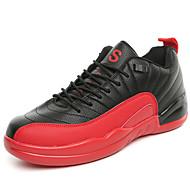 גברים-נעלי אתלטיקה-PU-נוחות / מגפונים / סגור-שחור / שחור ואדום / שחור ולבן-שטח / קז'ואל / ספורט-עקב שטוח