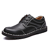 Men's Oxfords Fall Comfort Leather Outdoor / Office & Career / Casual Flat Heel Others Black / Brown Others