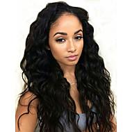 """100% טבעי צבע רופף גל תחרת 20 פאה משיער אדם מלאת בתולת ברזילאית שיער """"-28"""" 130 denisity עבור נשים שחורות"""
