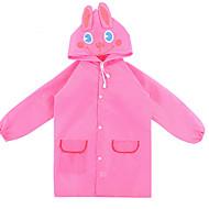 Rød / Pink Regnfrakke Regn Plastic børn / Rejse
