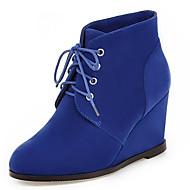 Γυναικεία παπούτσια-Μπότες-Γραφείο & Δουλειά Φόρεμα Καθημερινό-Ενιαίο Τακούνι-Μοντέρνες Μπότες-Φλις-Μαύρο Μπλε Καφέ