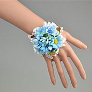"""Svatební kytice ručně vázané Pivoňky Živůtek na zápěstí Svatba Tyl Krajka 7 cm (cca 2,76"""")"""