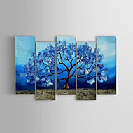 Hand-painted Abstract Life Tree Landscape Oil Painting Restaurant 5 Piece/Set Wall Art Decor Stretched Frame