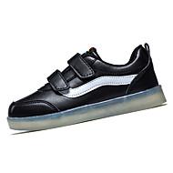 Jungen-Sneaker-Lässig-PUKomfort Light Up Schuhe-Schwarz Weiß Silber Gold