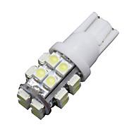 6 T10 x 20-SMD הוביל 6000K הנורה אורות מכונית סופר מבריק לבנה 194,168,2825, w5w