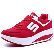 Women's Shoes PU Spring / Summer / Fall Comfort Sneakers Casual Flat Heel Others Black / Pink / Red