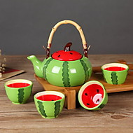 Take The Teapot Filtering Black Tea Flowers And Plants Tea Set