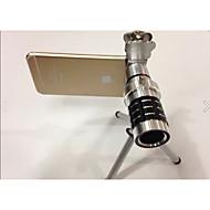 lente da câmera clipe geral cat 12 vezes de telefonia móvel teleobjetivas telescópica para a maçã samsung painço