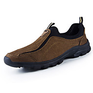 Men's Loafers & Slip-Ons Spring Fall Comfort Suede Outdoor Casual Flat Heel Others Split Joint Black Brown Green Gray Walking