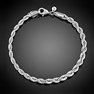 Armbänder Ketten- & Glieder-Armbänder Sterling Silber Linienform / Others bezaubernd / Inspirationen / Punkstil / EinstellbarHochzeit /