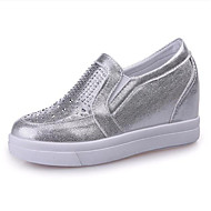 Women's Shoes Leatherette Spring / Fall Wedges Loafers & Slip-Ons Outdoor / Casual Wedge Heel Rivet Walking