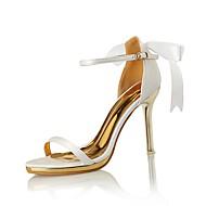 Feminino-Sandálias-Conforto Sapatos clube-Salto Agulha--Seda Microfibra-Casamento Social Festas & Noite