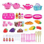 54pcs Kochen Schneiden von Obst / Gemüse so tun spielen Spielzeug DIY Spielzeug gesetzt