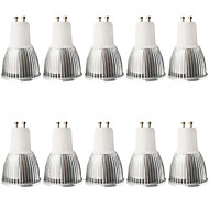 5W GU10 LED szpotlámpák MR16 1 COB 480LM lm Meleg fehér / Hideg fehér Állítható / Dekoratív AC 100-240 / AC 110-130 V 10 db.