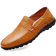 Men's Loafers & Slip-Ons Spring/Summer / Fall / Winter Moccasin Nappa Leather Office & Career / Casual Black/Brown