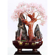 Natural Crystal Incurs the Wealth Tree Ornaments Home Decor Gift Cash Cow