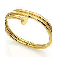 Homens Feminino Casal Bracelete Enrole Pulseiras Aço Inoxidável Durável Moda Vintage Estilo Punk Ajustável Adorável JóiasPrata Dourado