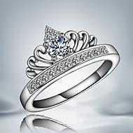 Gyűrűk Bojtok / Divat Esküvő / Parti / Napi / Hétköznapi Ékszerek Ezüst / Cirkonium Női Karikagyűrűk 1db,8 Ezüst