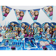 Luxury Disney Frozen 78pcs Birthday Party Decorations Kids Evnent Party Supplies Party Decoration 6 People use
