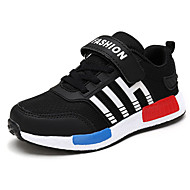 Boy's Sneakers Spring / Fall Comfort Patent Leather Athletic Flat Heel Lace-up Black / Blue / Royal Blue Sneaker