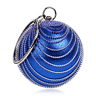 L.WEST Women's The Elegant Luxury Handmade Diamonds The Round Ball Evening Bag