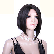 8A Grade Premierwigs 8'' Chinese Virgin Bob Straight Silk Top Lace Front Wigs With Baby Hair For Black Women