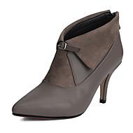 Γυναικεία παπούτσια-Μπότες-Γραφείο & Δουλειά Φόρεμα Πάρτι & Βραδινή Έξοδος-Τακούνι Στιλέτο-Μοντέρνες Μπότες-Φλις Δερματίνη-Μαύρο Γκρι