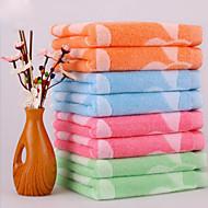 Pure Cotton Twistless Yarn Plain Vines Flower Bud Jacquard Towel