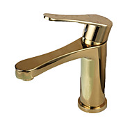 Antique Ti-PVD Finish Brass One Hole Single Handle Bathroom Sink Faucet