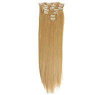 26-28 inch 120g(7pcs)/set Brazilian Hair 10 Colors Clip In Hair Extension Straight Clip In Human Hair Extensions