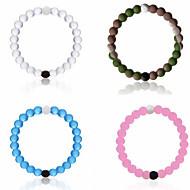 Strand Armband 1st,Bikini / Inspirerande Circle Shape Ljusrosa / Vit / Blå / Rosa Silikon Smycken Gåvor