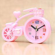 (Couleur aléatoire) en forme de vélo étudiants d'horloge d'alarme muette électronique chambre paresseux petit réveil
