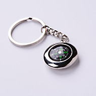 Aluminum Alloy Tire Compass Key Chain Accessories Metal Car Key Ring