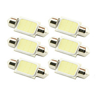 10x 36mm 3W COB LED 200lm 6000K Cold White Light Dome Festoon Reading Bulb Lamp for Car (DC 12V)