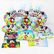 Auta 92pcs Dekorace Birthday Party dětské evnent zásoby strany party dekorace 12 lidí používá