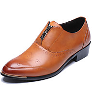 Men's Oxfords Spring / Summer/Fall /Winter Comfort Synthetic Office & Career / Casual Chunky Heel Black/Brown