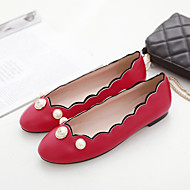 Women's Flats Spring / Fall Ballerina / Round Toe PU Casual Flat Heel Others Black / Red / White Others