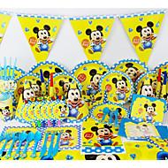 luxusním micey dítě 78pcs narozeniny ozdoby dětský evnent zásoby strany party dekorace 6 lidé používají