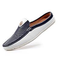 Kényelmes Mokaszin-Lapos-Női cipő-Papucsok & Balerinacipők-Alkalmi-Disznóbőr-Kék Fehér