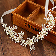 Bride's Flower Fresh Pearl Forehead Wedding Hair Accessories Headbands 1 PC