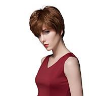 Beautiful Layered Short Straight Human Hair Capless Wigs