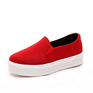 Women's Loafers & Slip-Ons Spring / Fall Creepers Canvas Casual Platform Others Black / Red Walking