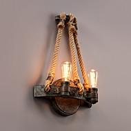 Vintage Industrial Style Hemp Rope Wall Light Metal Bedroom / Dining Room / Kitchen  Game Room