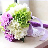 1pc 1 Une succursale Polyester / Plastique Hortensias Fleur de Table Fleurs artificielles 21.5inch/64CM
