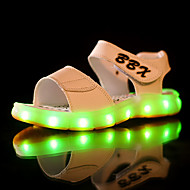 Sandały-Dla chłopców-Light Up Shoes-Płaski oncas-White Black Dark Blue Brown-PU-Casual