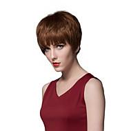 Layered Short Straight Human Hair Capless Wigs